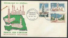 Senegal #237-9 1964 Theresa's Church, Dakar 3v FDC