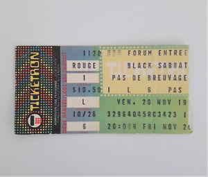 BLACK SABBATH DIO Mob Rules Tour Concert Ticket Stub 11/20/1981 Montreal Canada