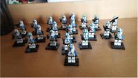 21 Pcs Minifigures 501st Legion Clone Trooper Blue Star Wars Custom Lego MOC