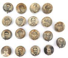 .LARGE SELECTION OF 18 c1930s AUSTRALIAN XI & ENGLISH XI CRICKET BADGES.