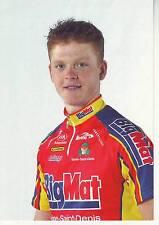 CYCLISME carte cycliste SEBASTIEN TALABARDON équipe BIG MAT AUBER 93