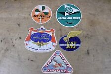 Group of 5 MINT, UNUSED Vintage Airline Luggage Stickers-Group B