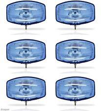 "6x 24v 9.5"" Jumbo Oval Blue ABS Spot Lamp + LED Scania Volvo DAF MAN Truck"