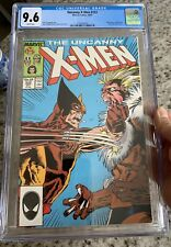 Uncanny X-Men 222 CGC 9.6 Wolverine Vs Sabertooth. NM. White Pages. Key Cover.