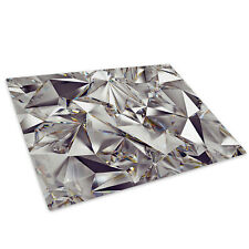 Black Grey White Cool Glass Chopping Board Kitchen Worktop Saver Protector