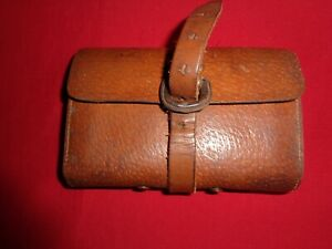 Old Leather Fly Wallet with Trout Flies to Gut.