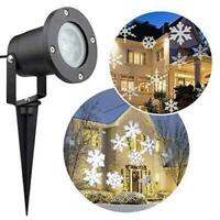 Christmas moving Laser Projector LED Lights Waterproof Landscape Snowflake Light