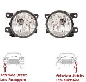 KIT COPPIA FENDINEBBIA FARETTI ANTERIORI SX DX FIAT PANDA DAL 2012 IN POI + LAMP