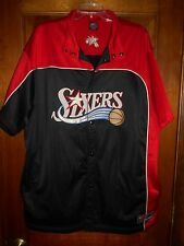 RARE NIke NBA Philadelphia 76ers Sixers  Sewn Warm-Up Button Jersey Sz XL
