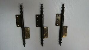 THREE VINTAGE BRASS HINGES ITALY