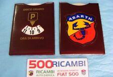 FIAT 500 F/L/R 126 PORTA DISCO ORARIO COMPLETO + LOGO ABARTH SCUDETTO + SCRITTA