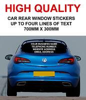 Personalised Car Rear Window Business Stickers Van Vinyl Sign Advertising Decals