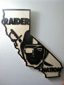 Raiders Wood California State Plaque Approx 19 inches