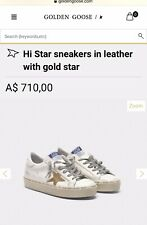 🌸 GOLDEN GOOSE 🌸Hi Star sneakers in leather with gold star🌸size 39🌸RRP $710