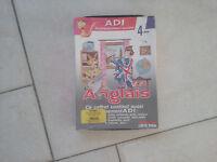 Jeu éducatif ADI Anglais 4ème en boite pour ordinateurs Commodore AMIGA
