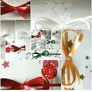 💜1-5Mt New Designs Xmas Cellophane Hamper Gift Wrap  Free Ribbon