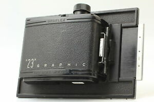 "[Excellent+5] GRAFLEX ""23"" GRAPHIC 120 ROLL FILM HOLDER 6x9cm from Japan #0111"