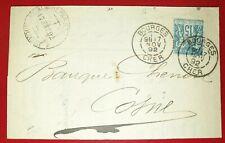 Brief Bourges Cher 1892 Frankreich France (10300