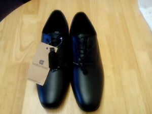 Shoes for Crews Ambassador Shoes in Black Leather - Slip Resistant
