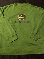 John Deere Green Sweater Sweatshirt Men Large Crewneck Pullover