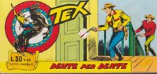 original italian comic strip TEX SERIE PUEBLO # 39 year 1965 DENTE PER DENTE