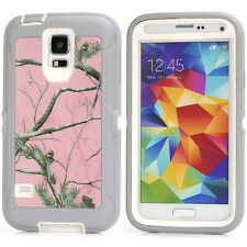 For Samsung Galaxy S5 Shockproof Camo Hybrid Hard Rugged Rubber Cover Case