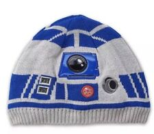 Star Wars Disney R2-D2 Light-Up Beanie Hat For Kids Sz XS/S (3-6) New R2d2