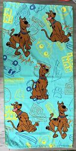 "SCOOB! Scooby Doo Bath Towel 23.5"" x 50.5"" Lightweight Multicolored Franco Brand"