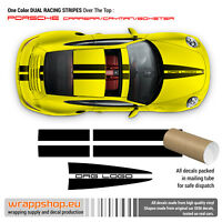 Porsche One Color Dual Racing Stripes Over The Top