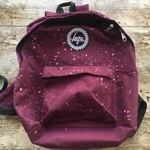 WOMENS HYPE GIRLS SCHOOL BAG Satchel Rucksack Shoudler BAG Womens Plum