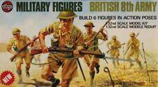 Airfix 1:32 54mm Military Figures British 8th Amry Plastic Figure Kit #03580-0U