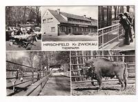 uralte AK Hirschfeld Tierpark Gaststätte Esel Bison 1976 //06