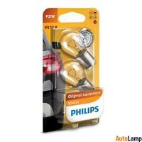 PHILIPS P21W Vision Halogen Indicator 12V 21W BA15s 12498B2 Twin