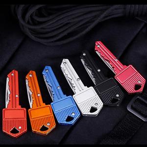 Folding Utility Pocket Knife Box Cutter Letter Opener Keychain Knife 6 Color's