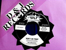 BAR KAYS~DON'T DO THAT~GIVE EVERYBODY SOME~RARE PROMO~VOLT 154 ~ SOUL 45