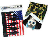 10x13 Army Soldier Camo Military Patriotic Poly Mailers, Red Blue Flag Envelopes