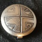 ONE NATIVE AMERICAN STERLING SILVER BUTTON COVER TRIANGLE