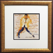 "LeRoy Neiman ""ELVIS PRESLEY"" Newly CUSTOM FRAMED Print Art - The king - litho"