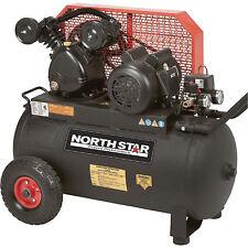 NorthStar Belt Drive Single-Stage Portable Air Compressor 2 HP 20Gal Hor 5.5 CFM