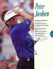 Peter Jacobsen & Tom Kite Dual Signed 1991 Shark Shootout Program Photo
