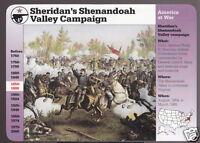 GENERAL SHERIDAN'S SHENANDOAH VALLEY CAMPAIGN War Grolier Story of America CARD