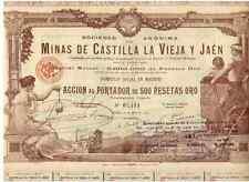 Minas de Castilla la Vieja y Jaen  1902 Madrid   DEKO