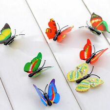 12 PCS 3D Stereo Butterflies Refrigerator Removable Stickers Home Wall Stickers