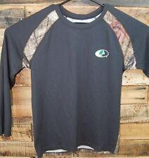 Mossy Oak Camo Break Up Infinity Youth 18 XXL L/S Thermal Black Shirt  #KC268