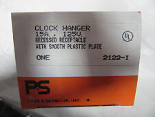 Pass & Seymour 2122-I Clock Hanger Recessed Receptacle 156A 125V NEW!!! in Box