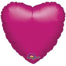 Metallic Fuchsia Heart Standard Foil Balloons Birthday Wedding Party Decorations
