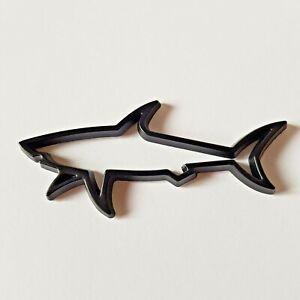 Schwarz 3D Metall Großartig Weiß Shark Plakette Für Dacia Sandero Duster Stepway