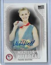 """2018 TOPPS OLYMPICS MADISON HUBBELL FIGURE SKATING """"FLAG"""" AUTOGRAPH CARD ~ /25"""