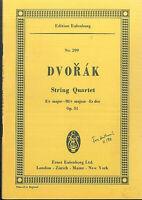 DVORAK ~ String Quartet Es Dur Op. 51 - Studienpartitur