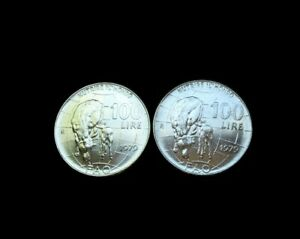 ITALY   1979 R   100 Lire   FAO    27.8mm-Foreign Coin Lot 2 BU Uncirculated